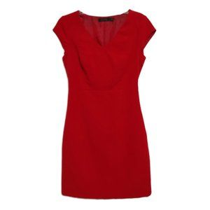 The Limited  Dress Red Sheath Solid Work Classic